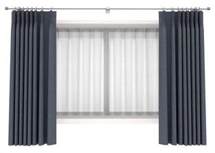 出窓のドレープカーテンのスタイル