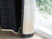 【遮光2級】遮熱&断熱(保温)UPのカーテン裏地&シェード裏地【RX-8397】アイボリー&シルバー