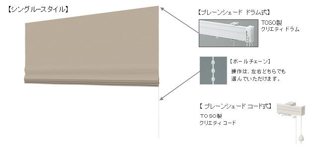 プレーンシェードの構造、操作の説明